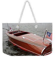 Chris Craft Barrel Back Weekender Tote Bag