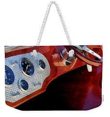 Weekender Tote Bag featuring the digital art Chris Craft Dash by Michelle Calkins