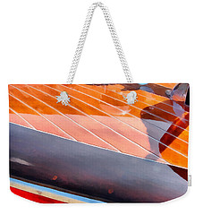Weekender Tote Bag featuring the digital art Chris Craft In The Sunlight by Michelle Calkins