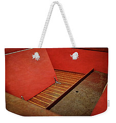 Chris Craft Interior With Red Weekender Tote Bag