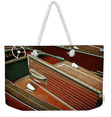 Chris Craft With Hatch And Steering Wheel Weekender Tote Bag