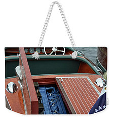 Chris Craft With Open Hatch And Motor Weekender Tote Bag