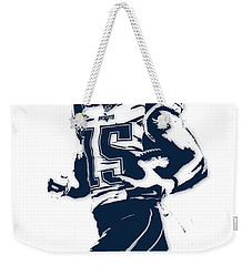 Chris Hogan New England Patriots Pixel Art Weekender Tote Bag by Joe Hamilton