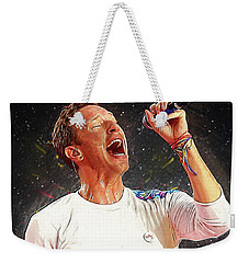 Chris Martin - Coldplay Weekender Tote Bag by Semih Yurdabak