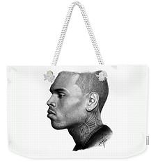 Chris Brown Drawing By Sofia Furniel Weekender Tote Bag