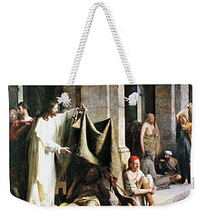 Weekender Tote Bag featuring the painting Christ Christ And The Man At The Healing Wel by Carl Heinrich Bloch