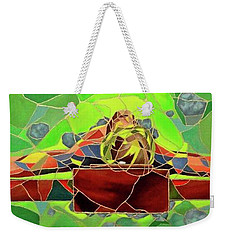 Christ In Stained Glass Weekender Tote Bag