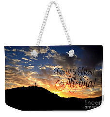 Christ Is Risen Weekender Tote Bag by Sharon Soberon