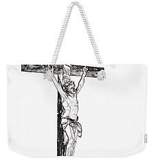 Christ On Cross Weekender Tote Bag