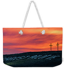 Christ Pilot Me Hill Weekender Tote Bag by Rob Graham
