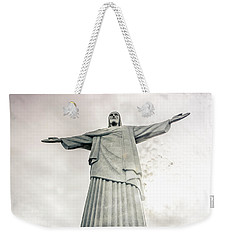 Weekender Tote Bag featuring the photograph Christ The Redeemer by Andrew Matwijec
