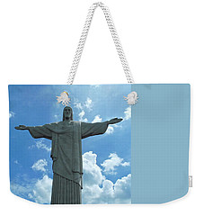 Weekender Tote Bag featuring the photograph Christ The Redeemer Statue by Kirsten Giving