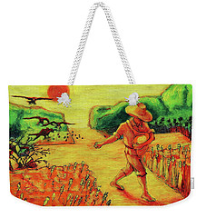 Weekender Tote Bag featuring the painting Christian Art Parable Of The Sower Artwork T Bertram Poole by Thomas Bertram POOLE