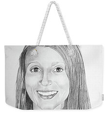 Weekender Tote Bag featuring the drawing Christina by Mayhem Mediums