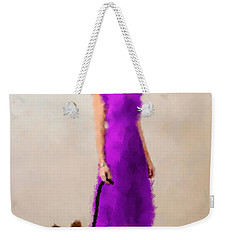 Weekender Tote Bag featuring the digital art Christina by Nancy Levan