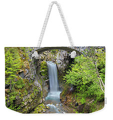 Christine Falls In Mt Rainier National Park Weekender Tote Bag