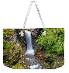Christine Falls Under Bridge In Mt Rainier National Park Weekender Tote Bag