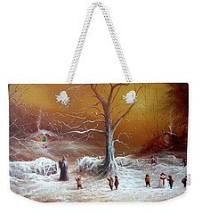A Shire Christmas  Weekender Tote Bag