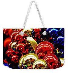 Christmas Abstract 14 Weekender Tote Bag by Sarah Loft