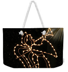 Weekender Tote Bag featuring the photograph Christmas Angel by Rosalie Scanlon