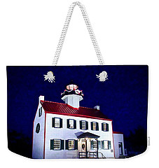 Christmas At East Point Lighthouse Weekender Tote Bag