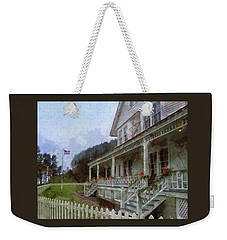 Weekender Tote Bag featuring the photograph Christmas At Heceta Head by Thom Zehrfeld