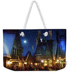 Christmas At Hogsmeade Blank Weekender Tote Bag