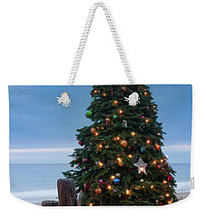 Christmas At The Beach Weekender Tote Bag