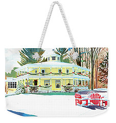 Christmas At The Hexagon House Weekender Tote Bag by LeAnne Sowa
