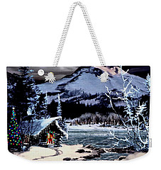 Christmas At The Lake V2 Weekender Tote Bag