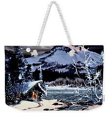 Christmas At The Lake V2 Weekender Tote Bag by Ron Chambers
