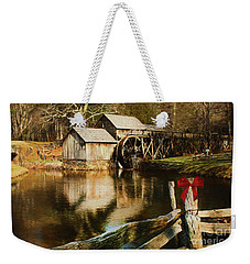 Weekender Tote Bag featuring the photograph Christmas At The Mill by Darren Fisher