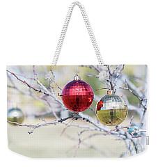 Christmas At The Park Weekender Tote Bag
