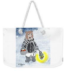 Christmas Bear Weekender Tote Bag