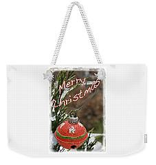 Christmas Bell Ornament Weekender Tote Bag