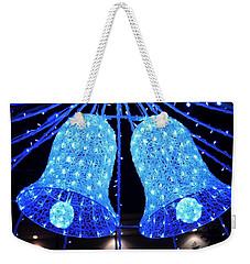 Christmas Blue Bells Weekender Tote Bag