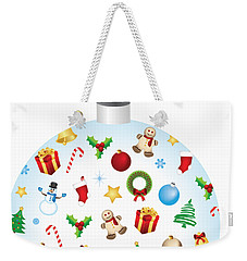 Christmas Bulb Art And Greeting Card Weekender Tote Bag