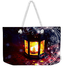 Christmas Candles Weekender Tote Bag by Annie Zeno