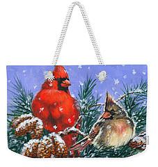 Christmas Cardinals #1 Weekender Tote Bag