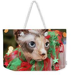 Christmas Cat Weekender Tote Bag