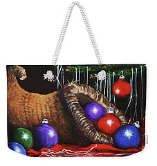 Christmas Colors Weekender Tote Bag