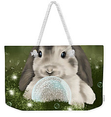 Weekender Tote Bag featuring the painting Christmas Decoration  by Veronica Minozzi