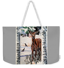Christmas Deer Friends Weekender Tote Bag