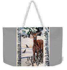Christmas Deer Friends Weekender Tote Bag
