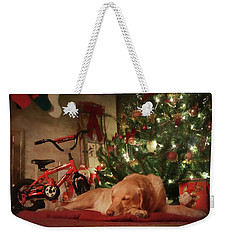 Weekender Tote Bag featuring the photograph Christmas Eve by Lori Deiter