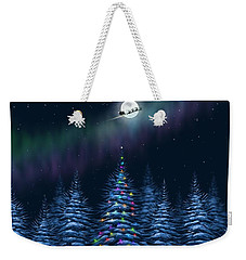 Weekender Tote Bag featuring the painting Christmas Eve by Veronica Minozzi
