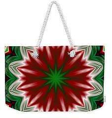 Christmas Flower Weekender Tote Bag