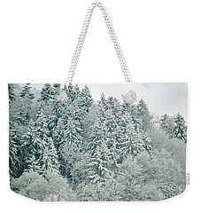 Weekender Tote Bag featuring the photograph Christmas Forest - Winter In Switzerland by Susanne Van Hulst