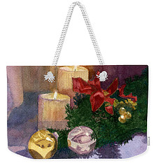 Christmas Glow Weekender Tote Bag by Lynne Reichhart