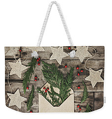 Weekender Tote Bag featuring the photograph Christmas Greens by Kim Hojnacki